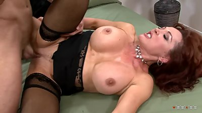 Busty redhead mom got if raw on..
