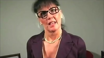 busty mature teacher tells you to cum..