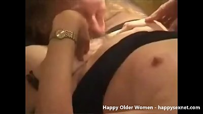 Horny granny having fun. Amateur older