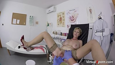 busty granny gets pov fucked by her..