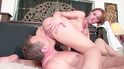 Busty Secretary Gets Fucked by her..