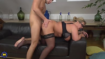 Busty German Mature Doing Her Toyboy