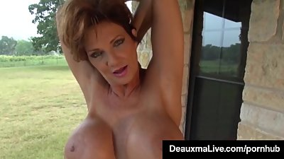Busty Cougar Deauxma Oils Up &..