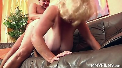 German Granny has Huge Tits