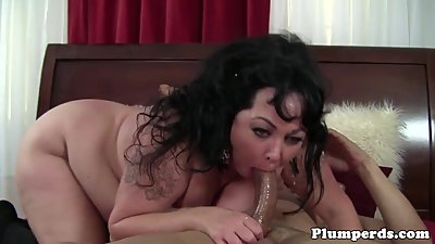 Obese lingerie cougar cockrides and..