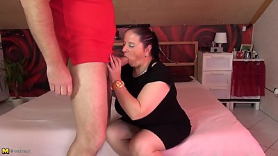 Petite chubby mature mom fucked by..