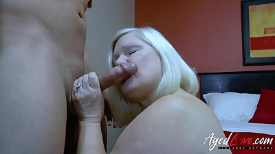 AgedLovE Busty Mature and Handy Guy..