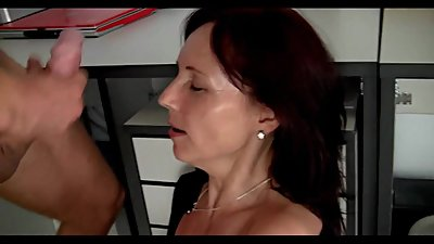 Petite mature secretary fuck in office..