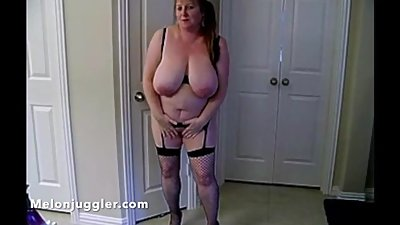 Mature housewife with big tits loves..