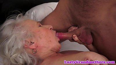 Hairy mature titfucked after receiving..