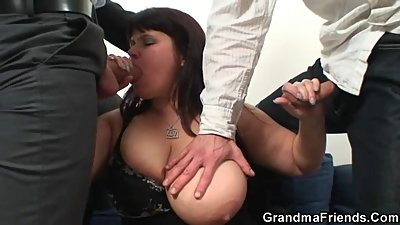 Huge titted mommy is lured into..