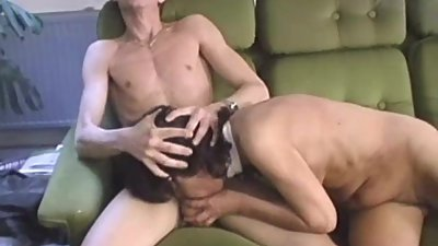 Hairy granny gets her face and pussy..