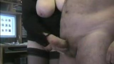 Nice Handjob for dad