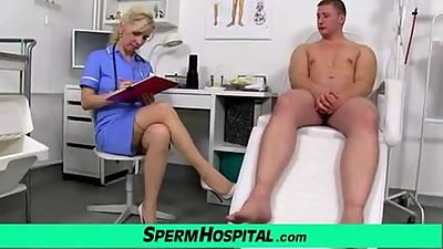Stockings legs milf doctor Maya cum on..
