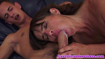 Gorgeous gilf banged before tasting jizz