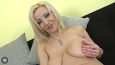 Posh mature mom with saggy tits and..