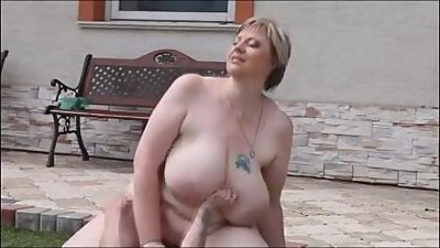Hot Mature Dominates Poolside
