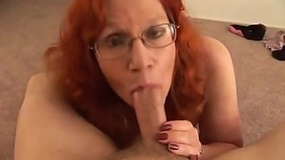 Busty Redhead BBW Mature TITjob and..
